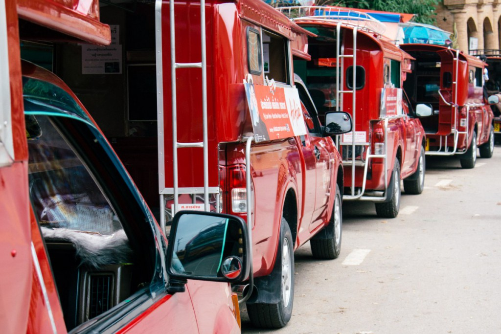 Red cabs at Doi Suthep