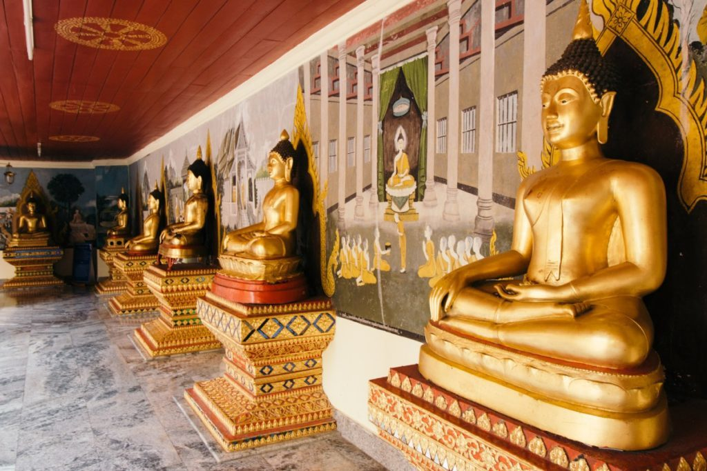 Golden Buddhas in Doi Suthep