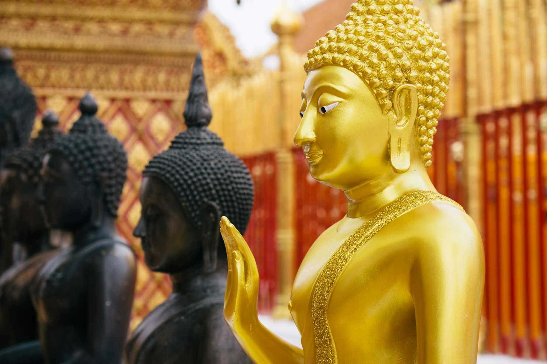 Doi Suthep: Chiang Mai's mountain and its famous temple, Wat Phra That Doi Suthep.
