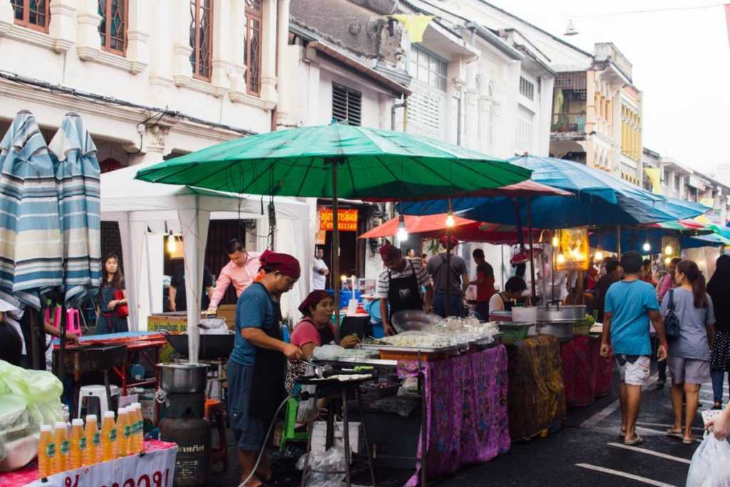 An authentic Thai Street Food Market in Phuket Old Town! 4