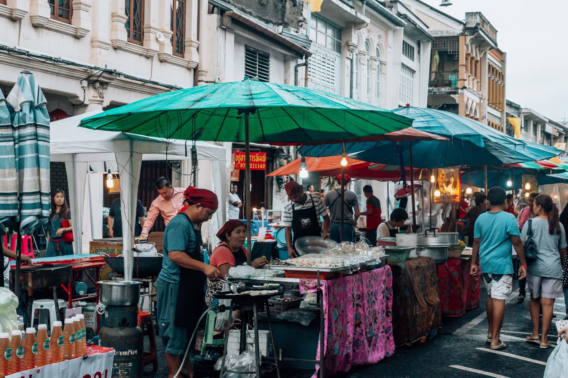 Phuket Altstadt Street Food Markt