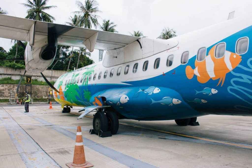 ATR-72 of Bangkok Airways at Koh Samui Airport USM
