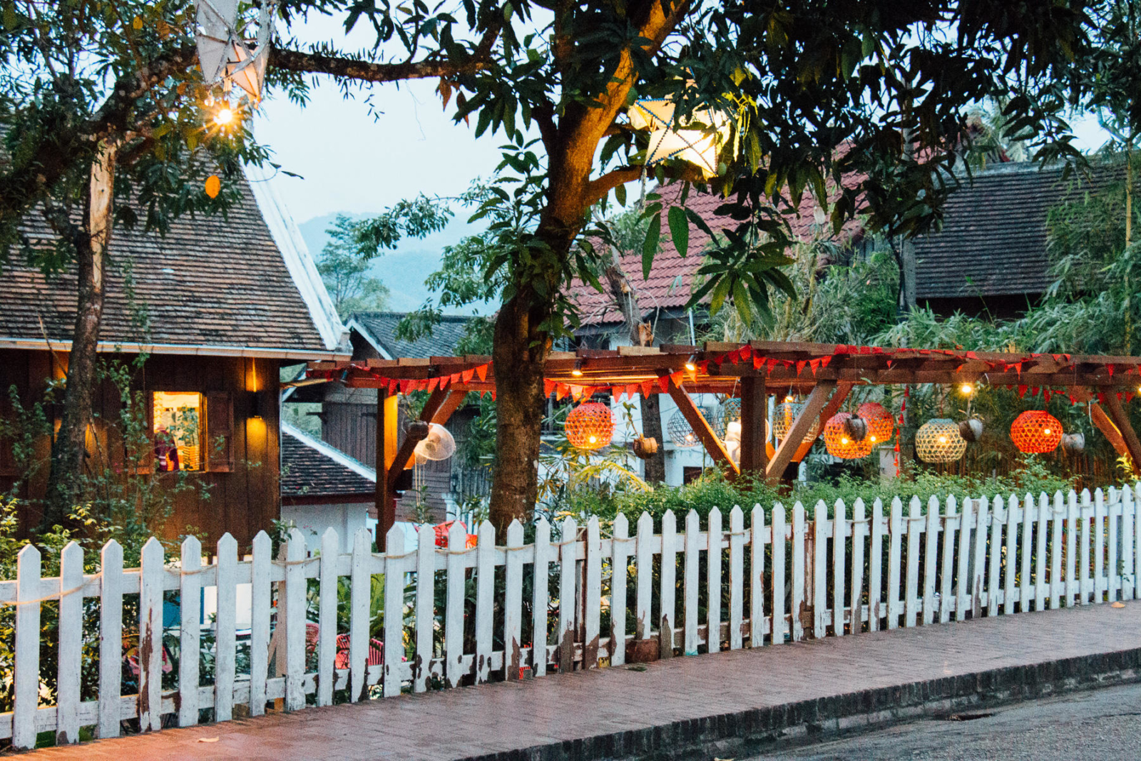 Och Pop Tok Silk Road Café at Heritage Garden, Luang Prabang