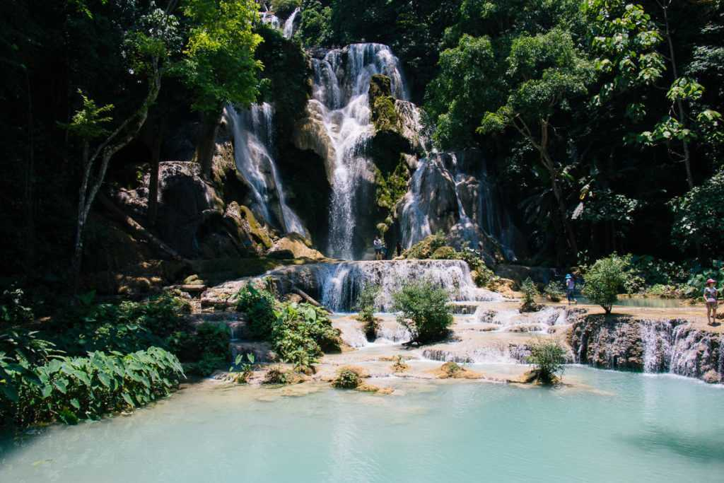 Kuang Si Waterfall in Lao