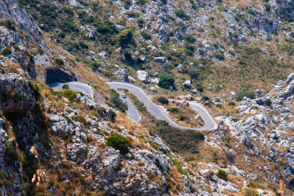 Curvy road down to Sa Calobra, Mallorca