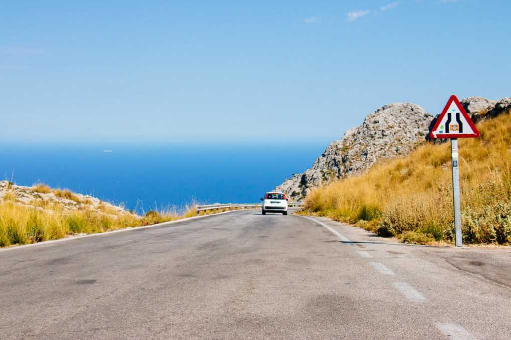 Road in Tramuntana mountains to Sa Calobra, Mallorca
