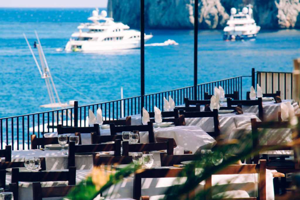 Restaurant with sea view in Sa Calobra, Mallorca