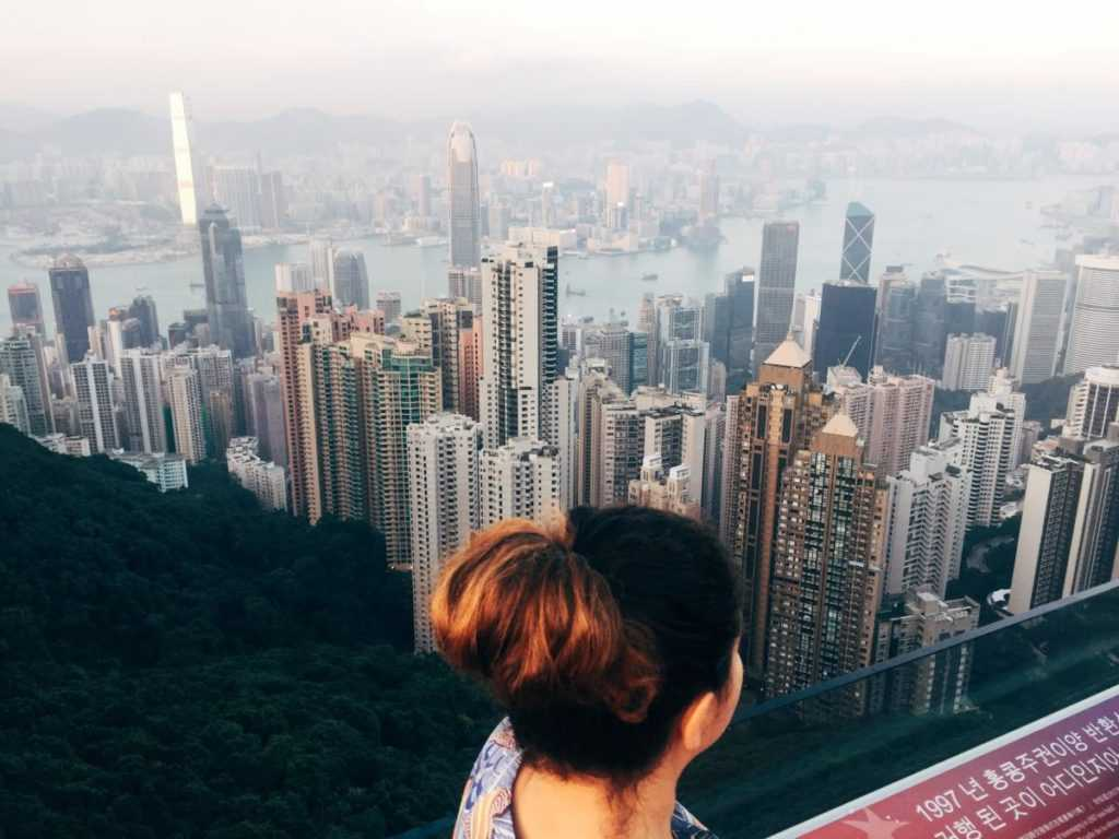 view from victoria peak hongkong