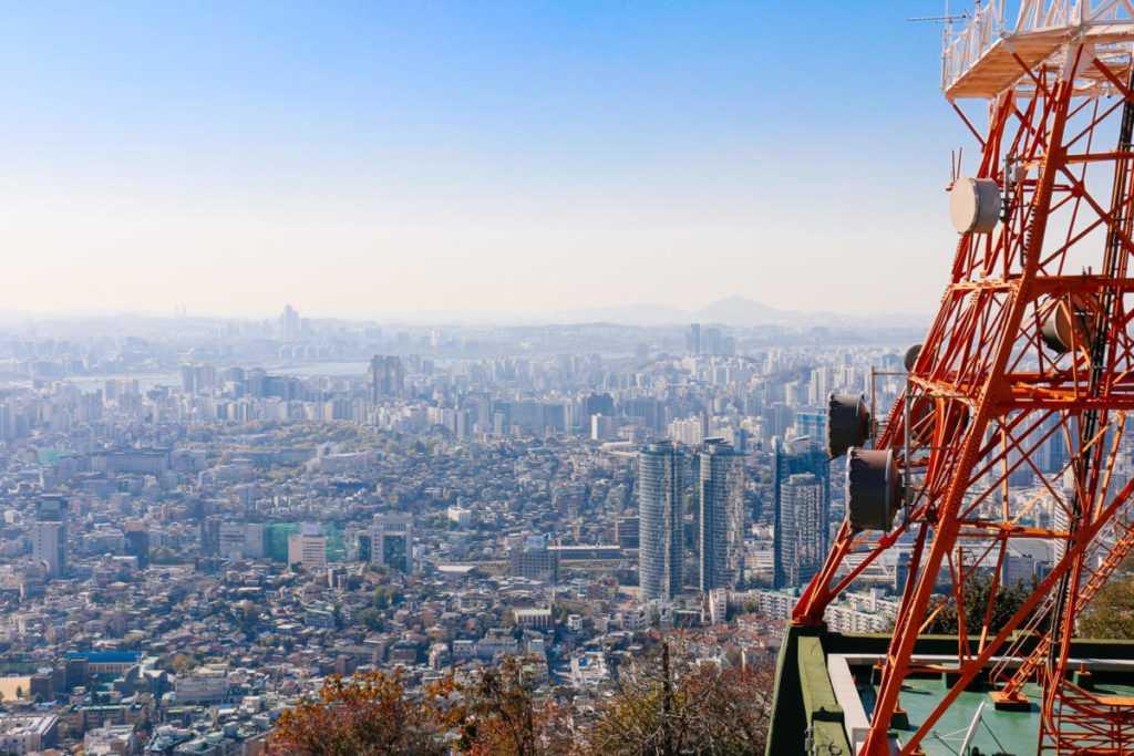 Aussicht vom Berg Namsan, Seoul