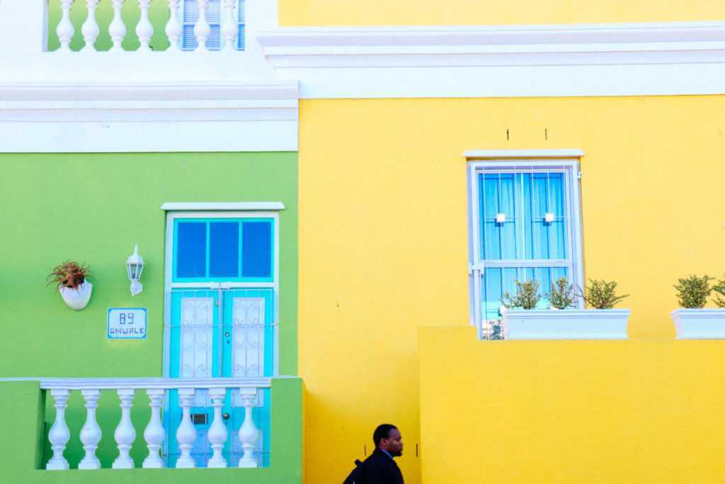 bokaap houses green yellow