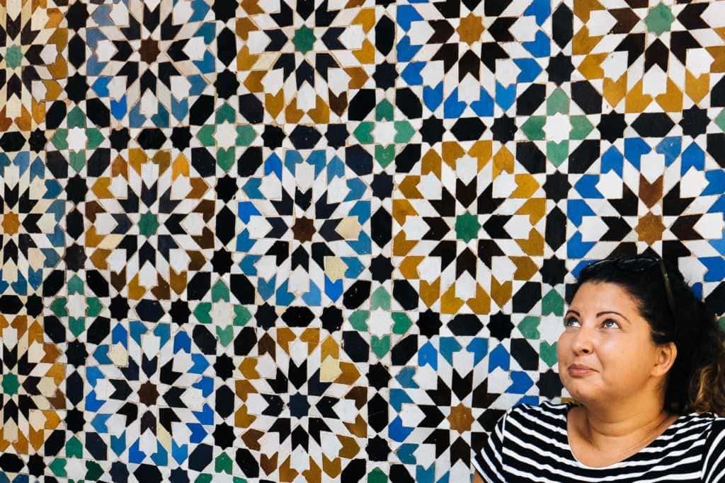 Frau in Marrakesch Reisen