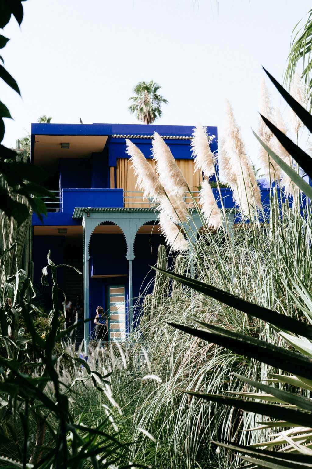 Jardin Majorelle blaues Haus Marrakesch Yves Saint Laurent