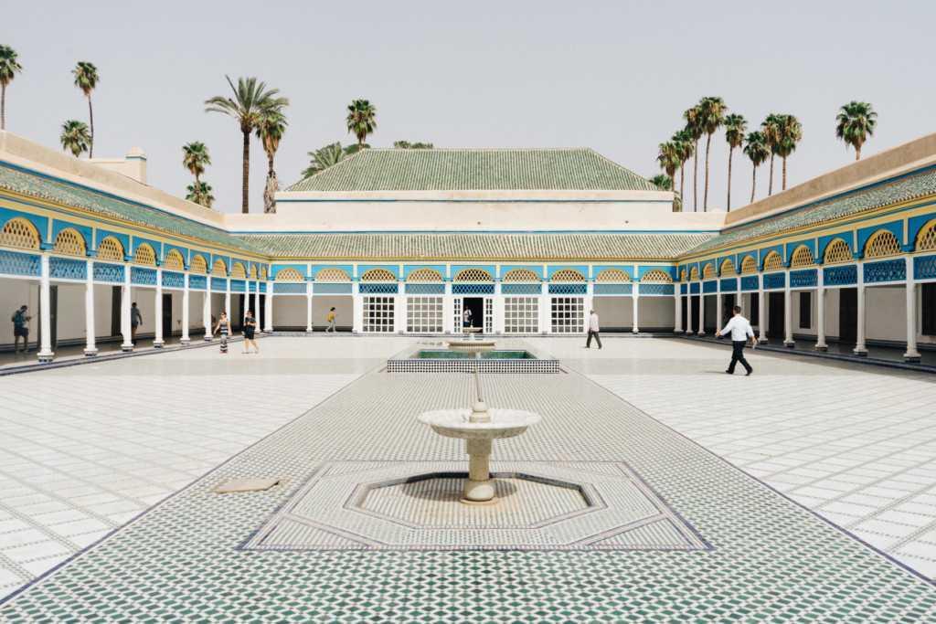 Bahia Palast Innenhof Marrakesch