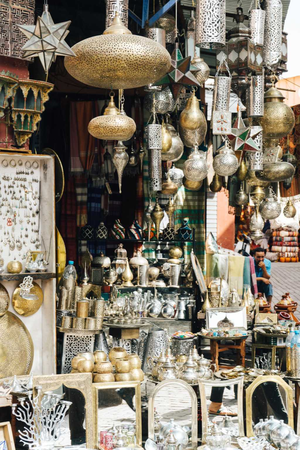 Messing Lampen Marokko Souks Marrakesch