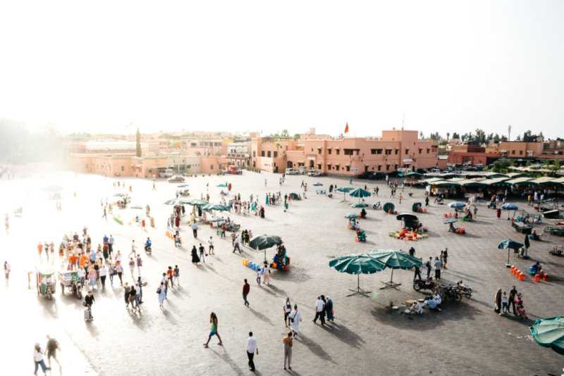 place djemaa el fna marrakesch marokko