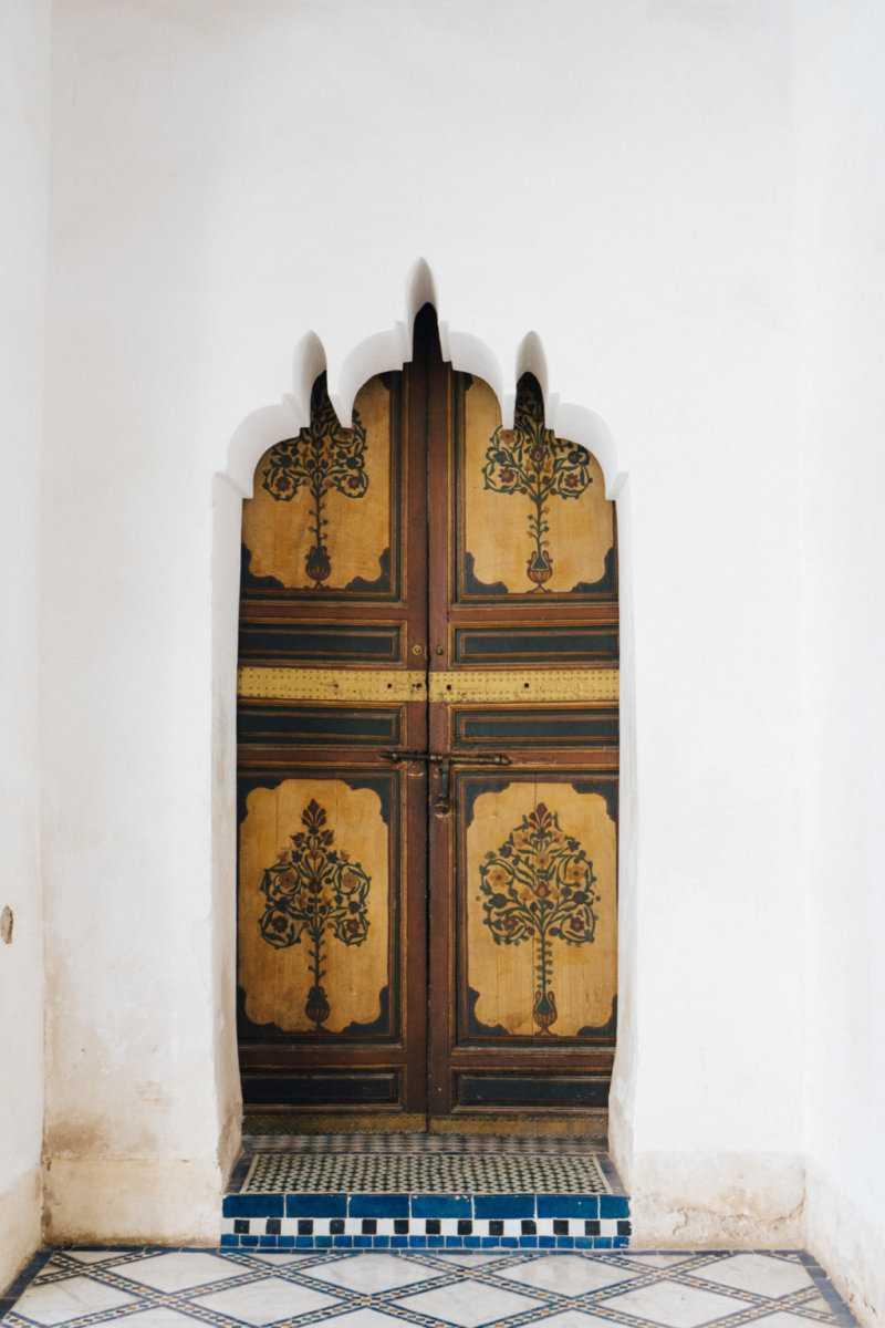 Holz Tür Palais Bahia Marrakesch