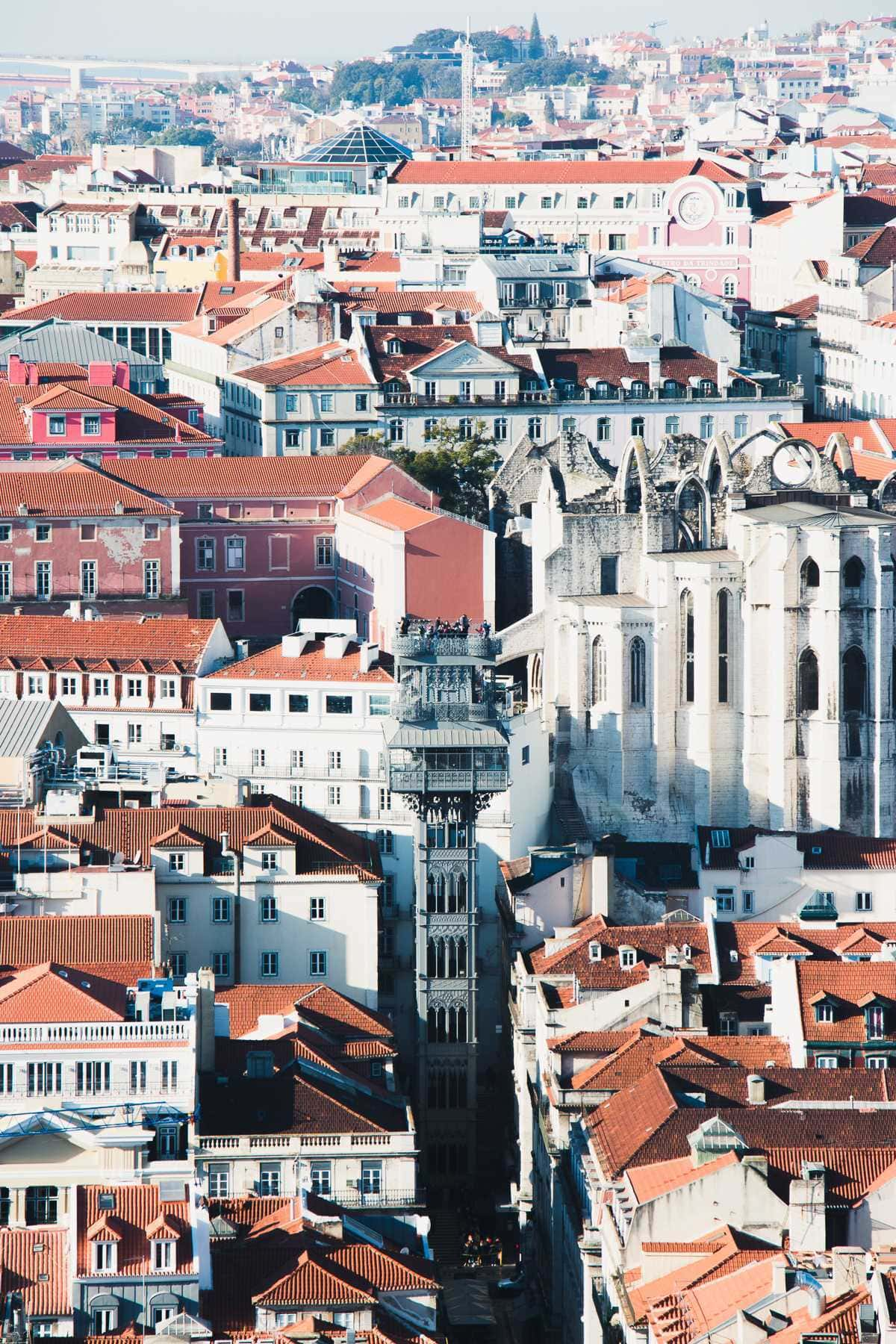 Elevador do Carmo und Chiado in Lissabon