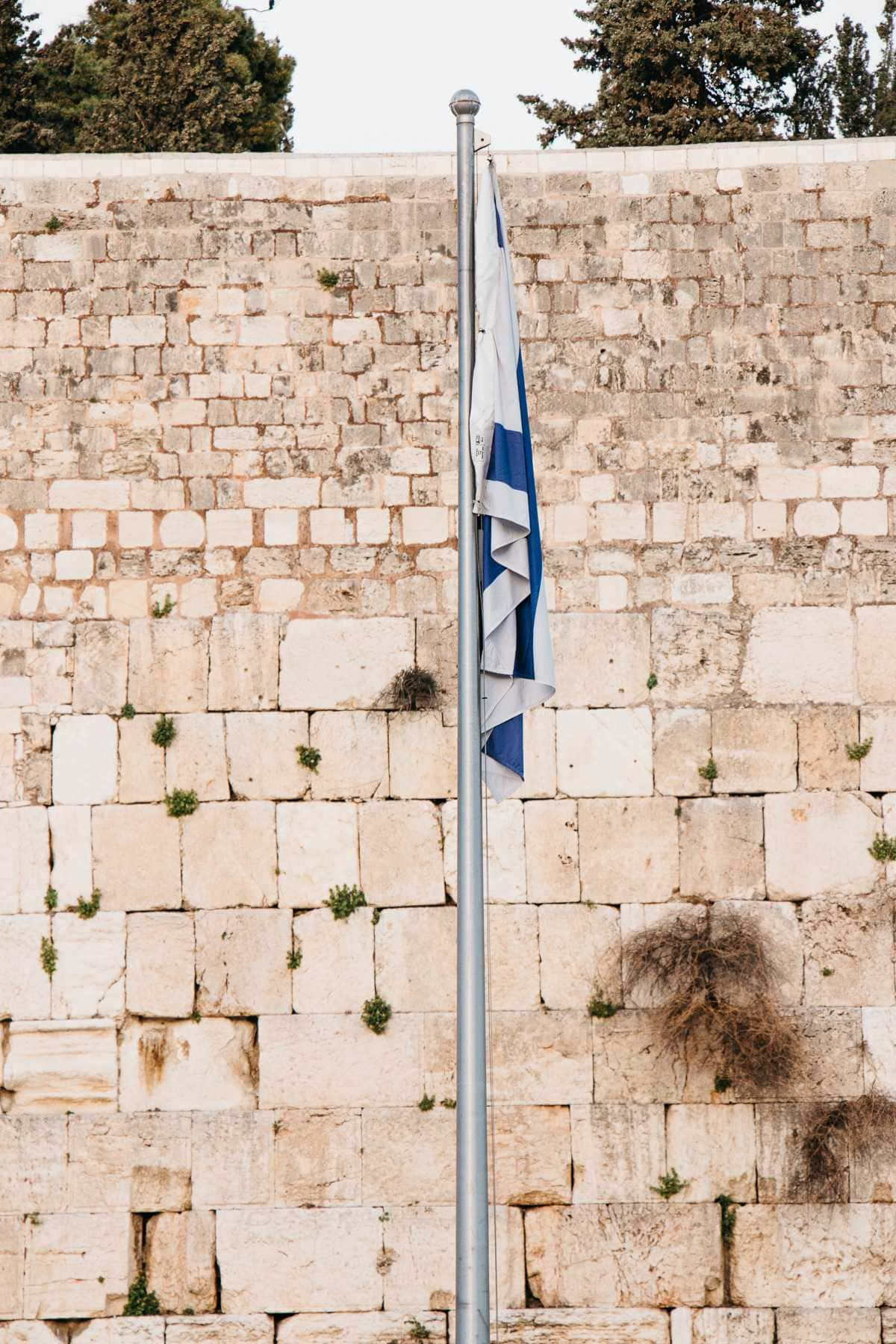 Flagge Israel Klagemauer