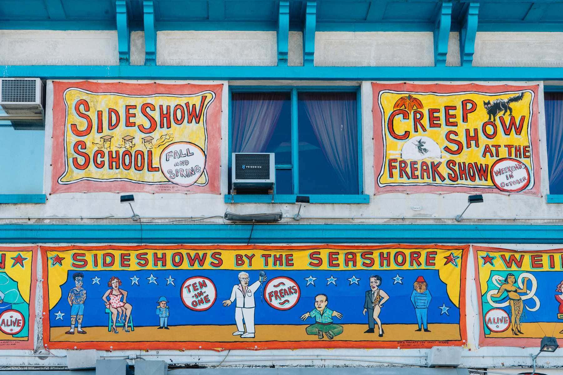 freak show plakate coney island