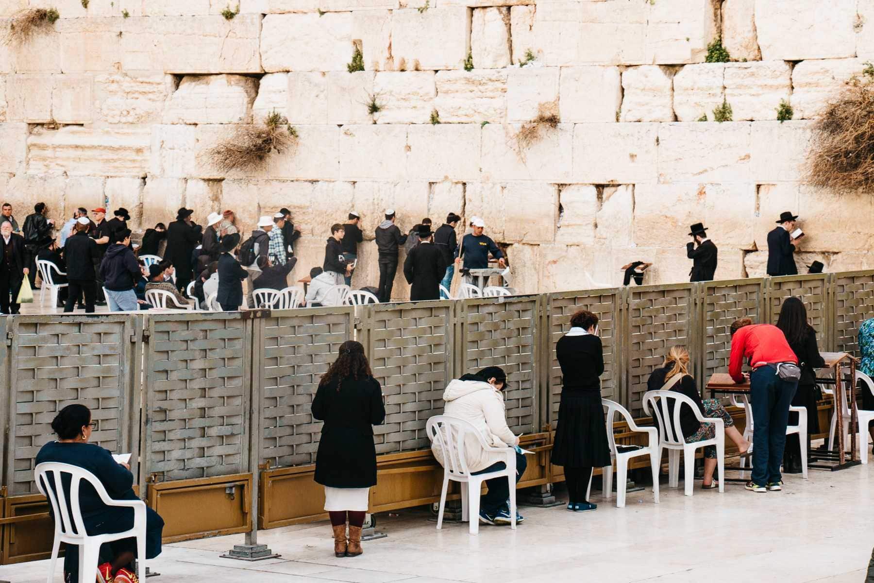 Trennung Frauen Männer Klagemauer Jerusalem