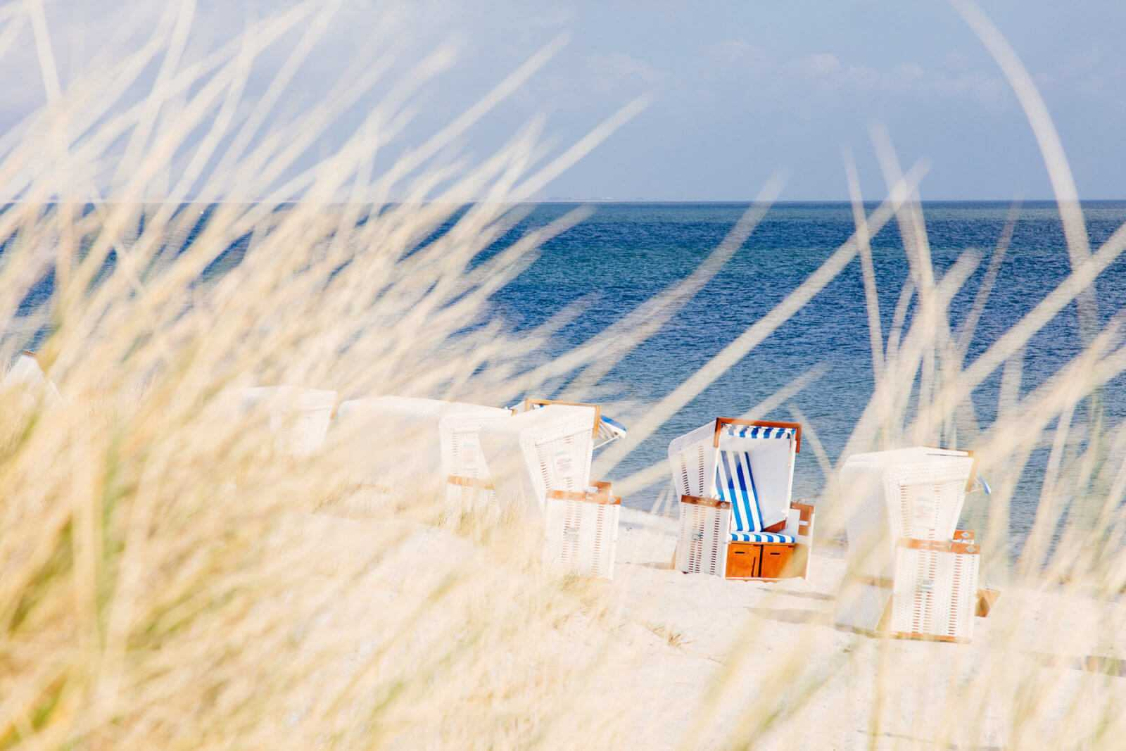 Sylt Lister Ellenbogen Strandkörbe Strand in List