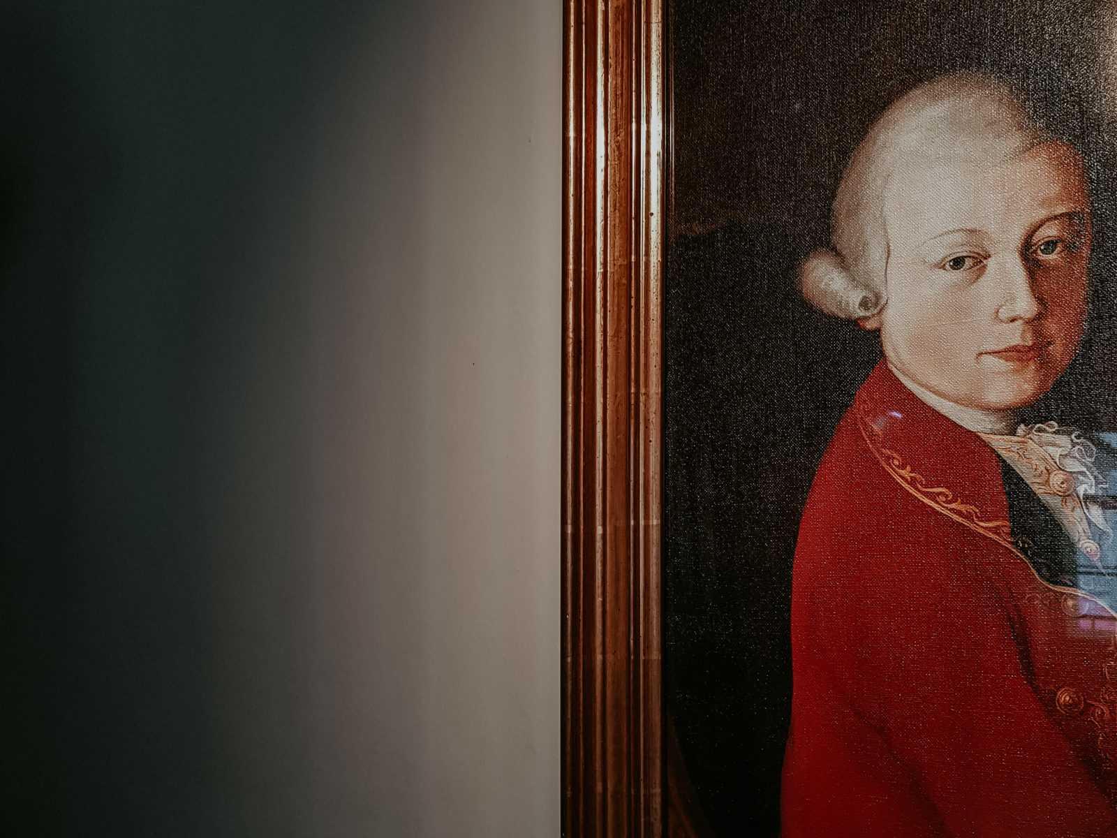 Gemälde Öl Wolfgang Amadeus Mozart