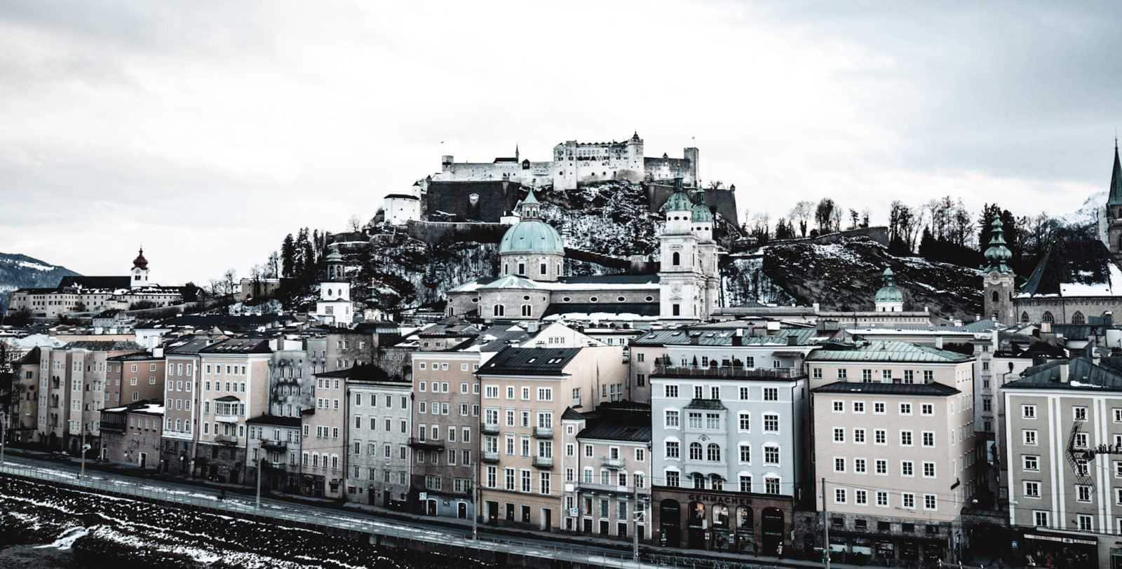 Mozart in Salzburg Festung Hohensalzburg und Altstadt Salzburg