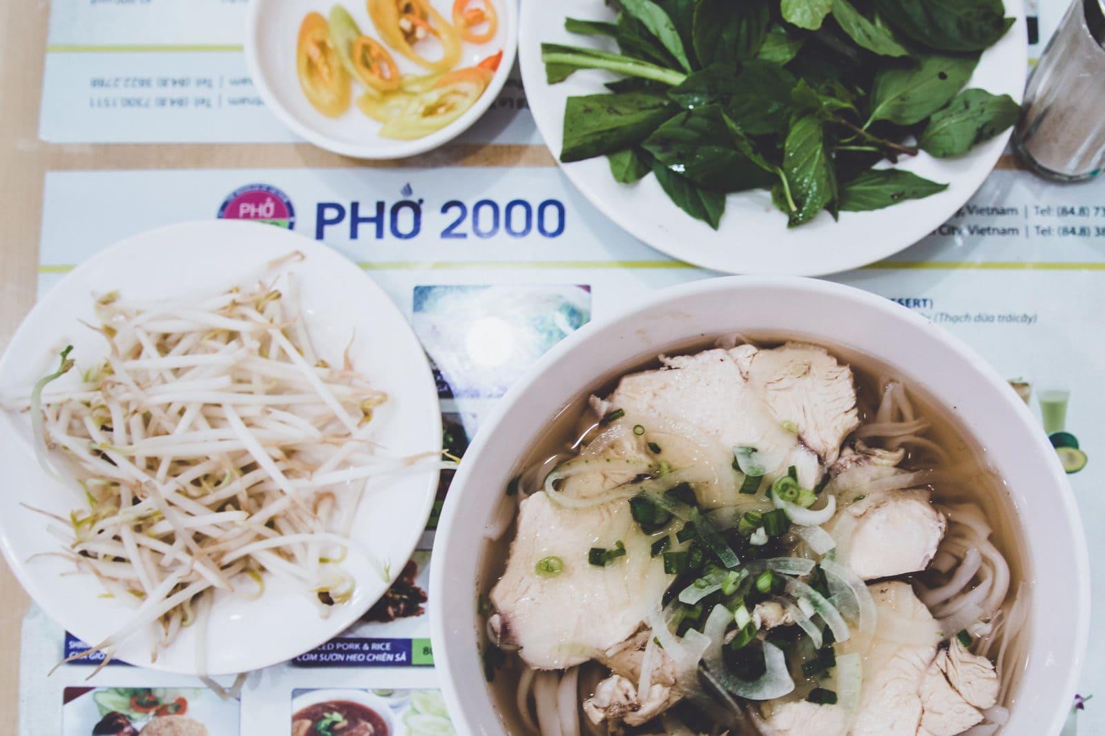 Pho Suppe im Pho 2000, Saigon Ho Chi Minh City