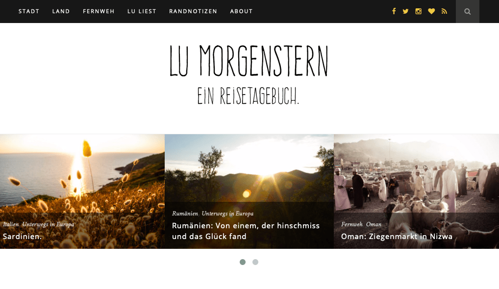 Reiseblogs Storytelling Lu Morgenstern