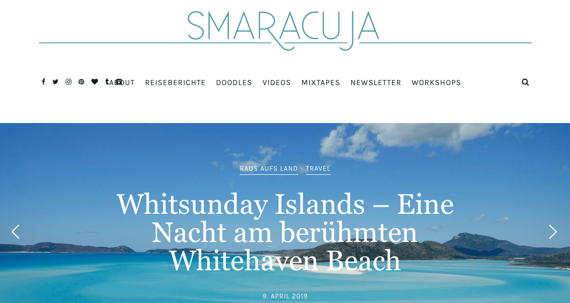 Reiseblogs Storytelling Smaracuja