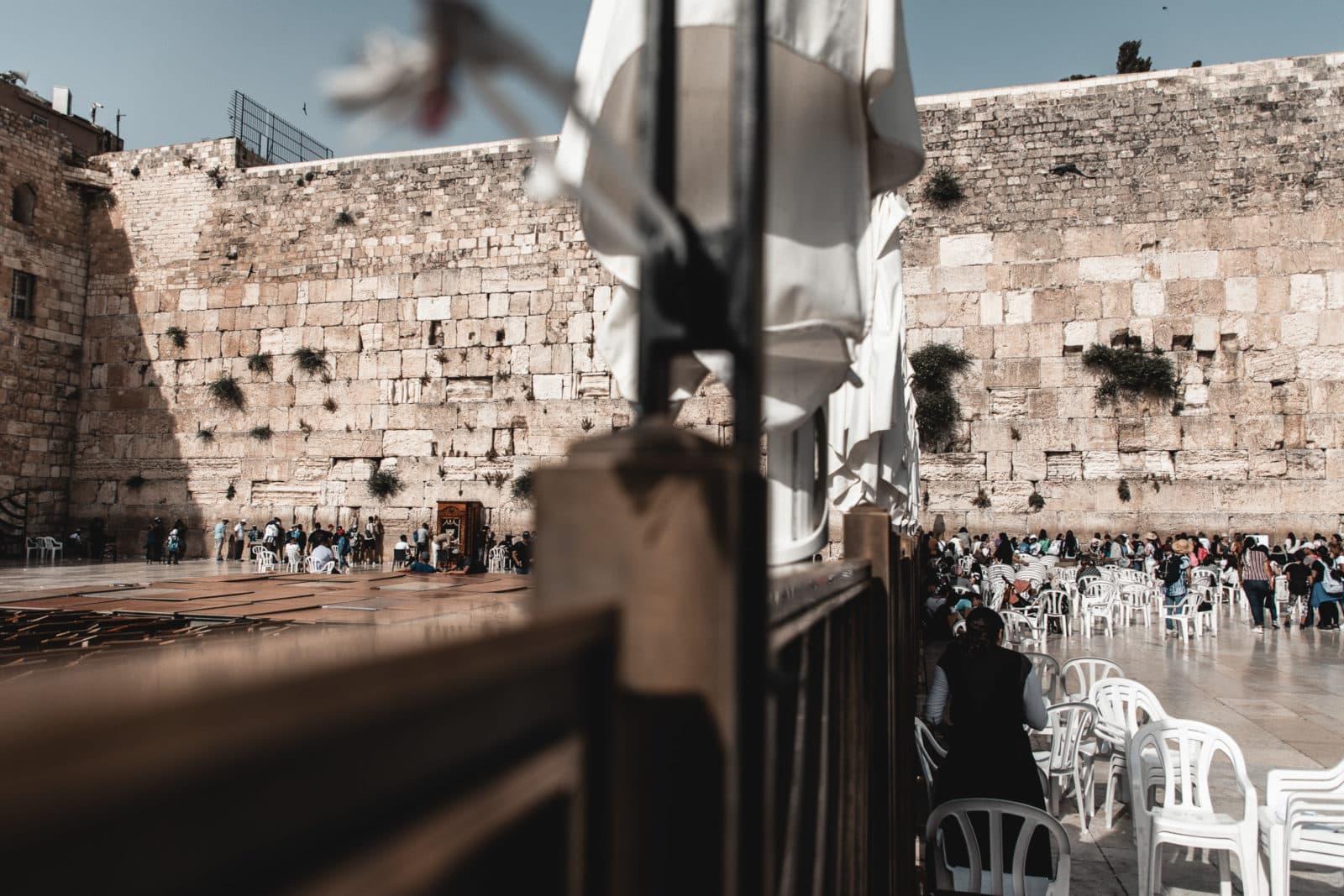 Klagemauer Trennung von Männer und Frauen Jerusalem Sehenswürdigkeiten