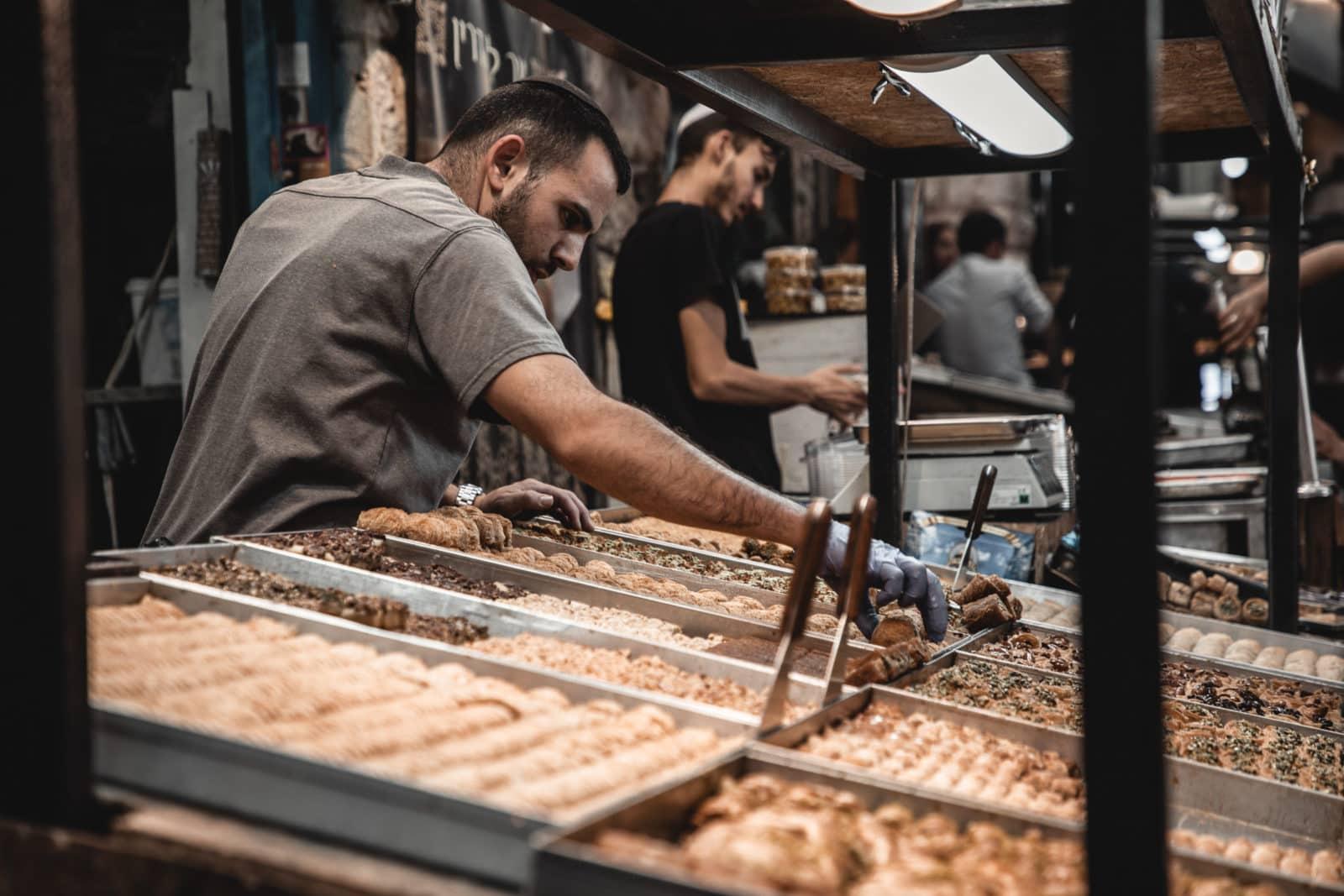 Jerusalem Sehenswürdigkeiten Desserts Mahane Yehuda Markt Israel