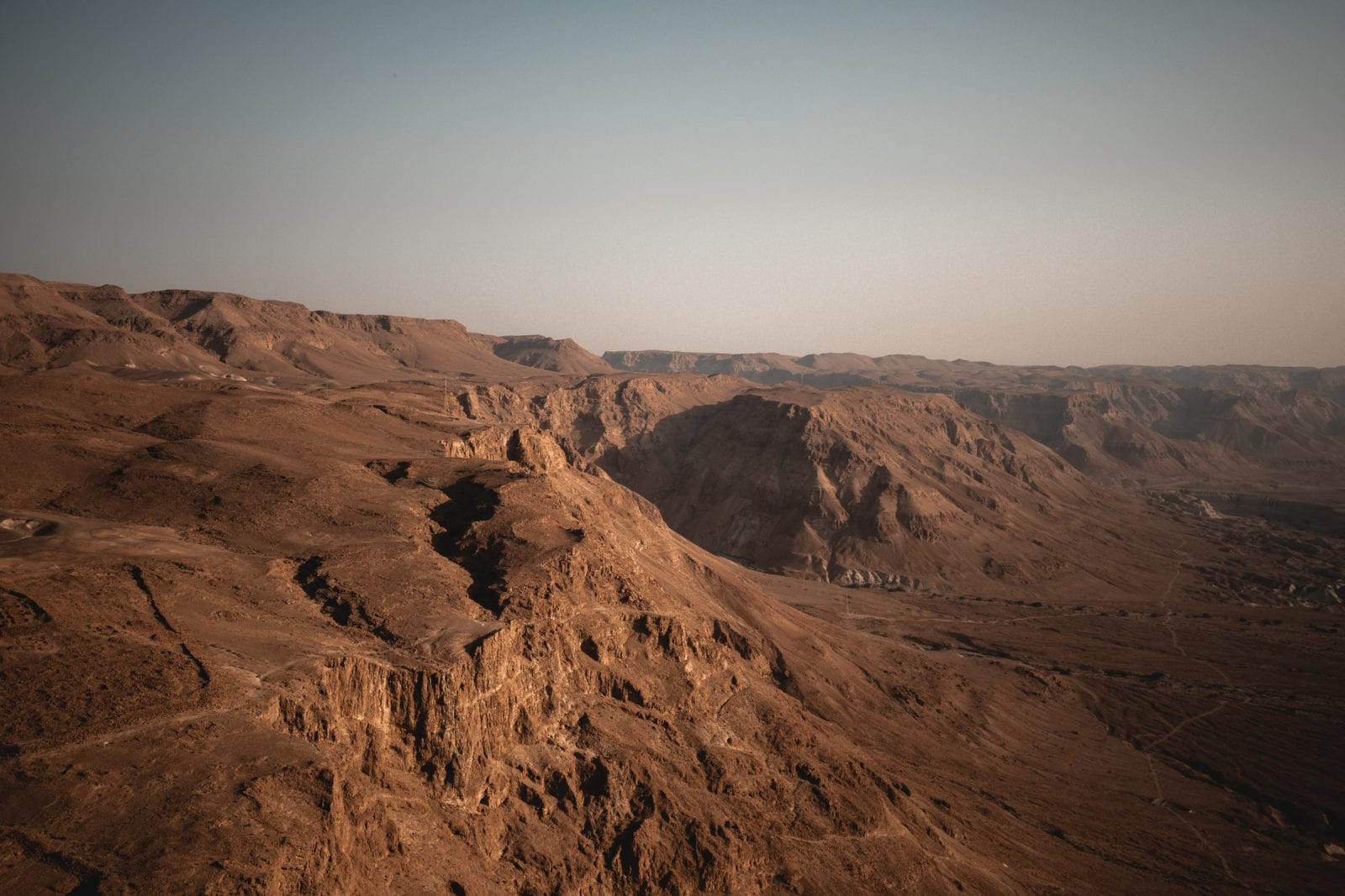Masada sunrise: Desert Landscape Dead Sea and Judean Desert Israel