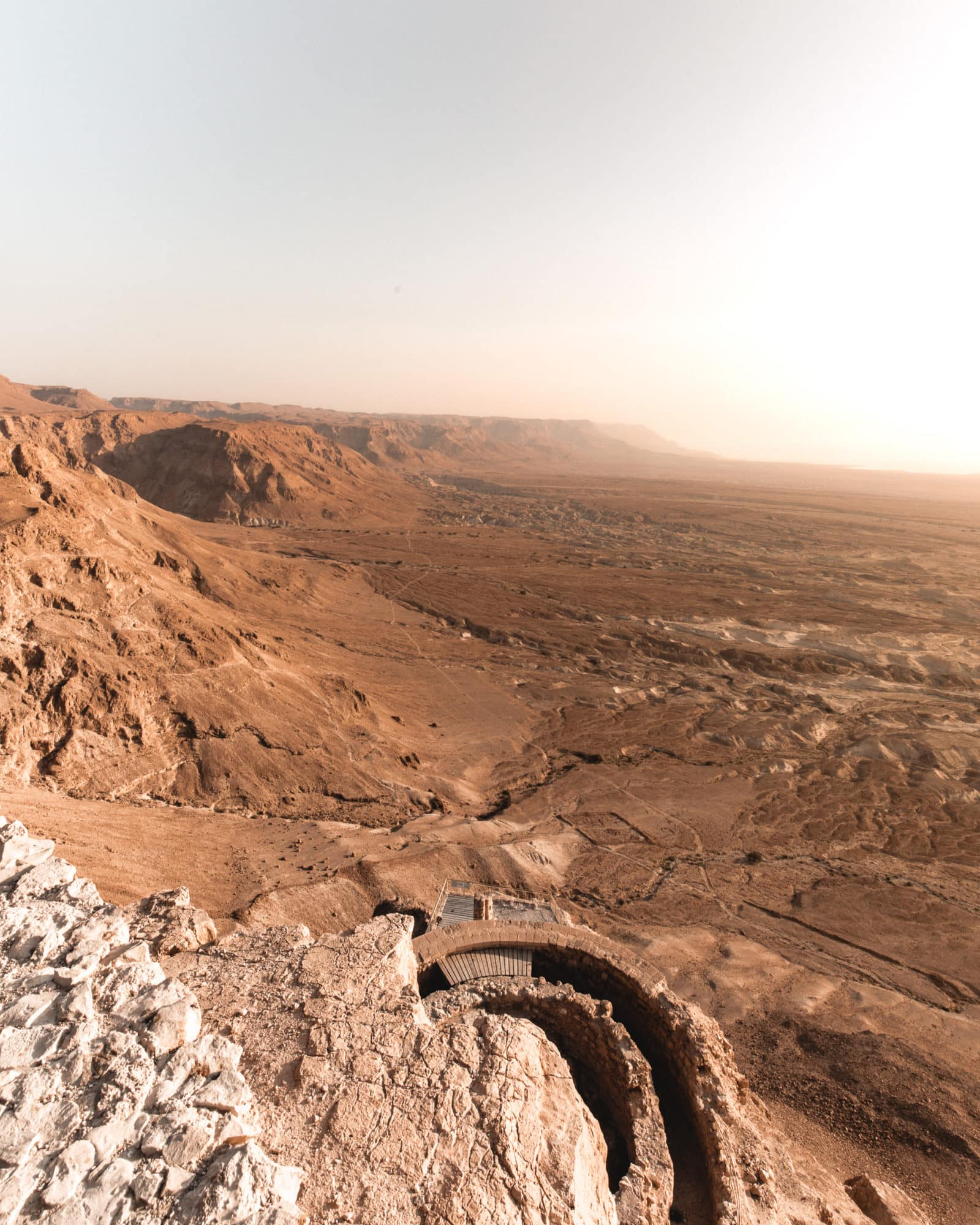 Masada sunrise King Herodes palace