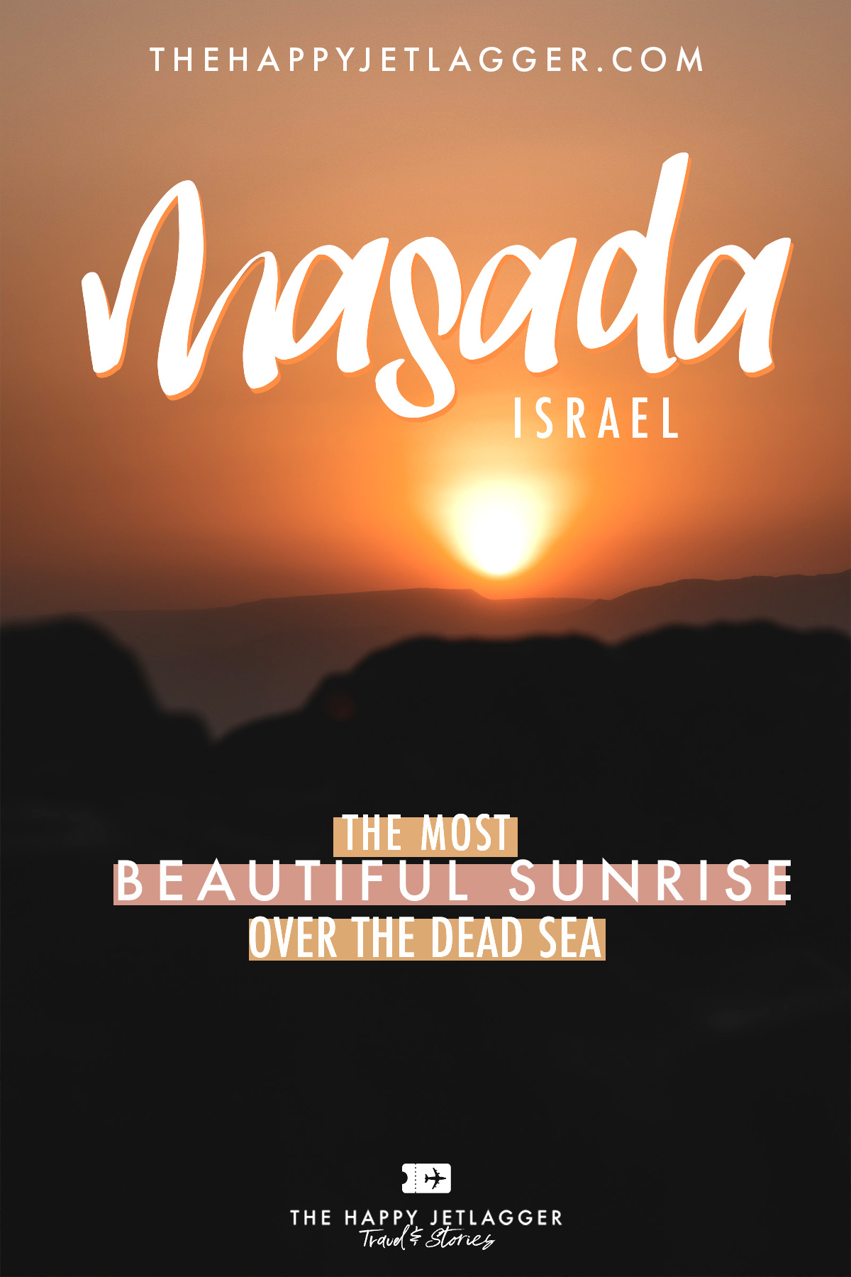 Masada sunrise Dead Sea Israel