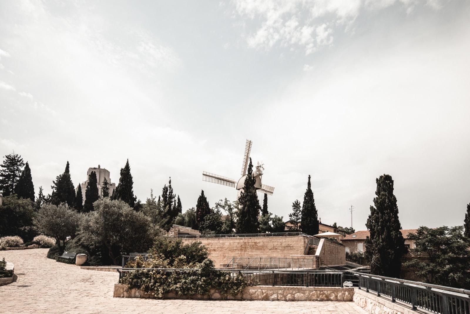 Jerusalem Sehenswürdigkeiten Montefiore Windmühle Israel