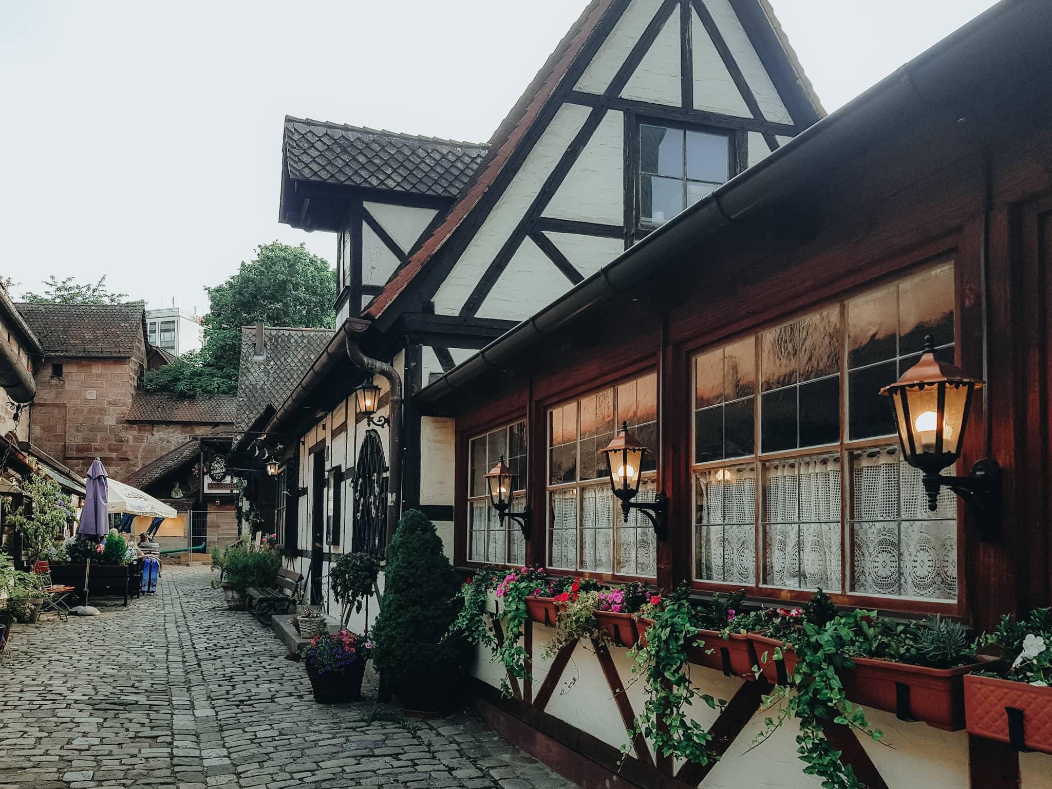 Fachwerkhaus Nuernberg Altstadt Stadtmauer Handwerkerhof
