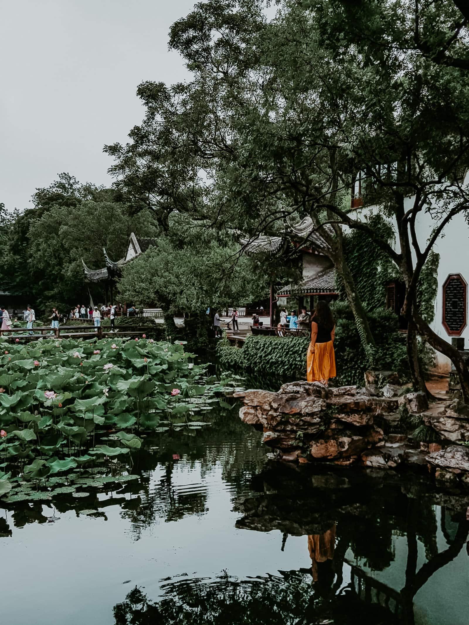 Suzhou Sehenswürdigkeiten Garten des bescheidenen Beamten Pavillons
