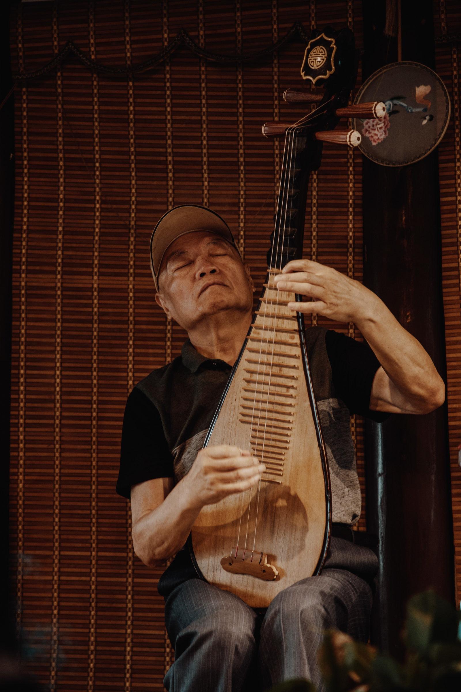 Pingtan Musik im Teehaus Pingjiang Road Suzhou China