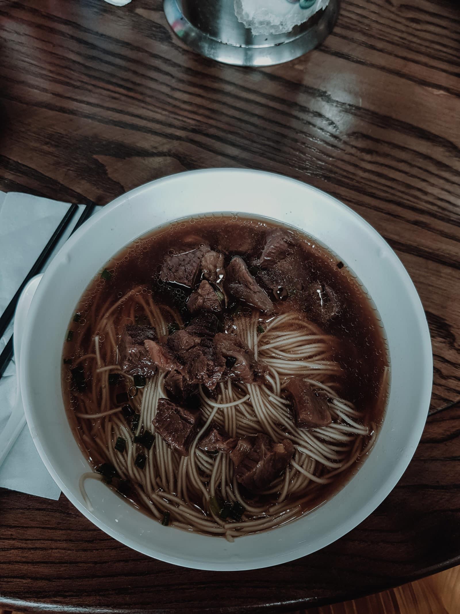 Suzhou Küche Nudeln und Nudelsuppe bei Zhuhongxing