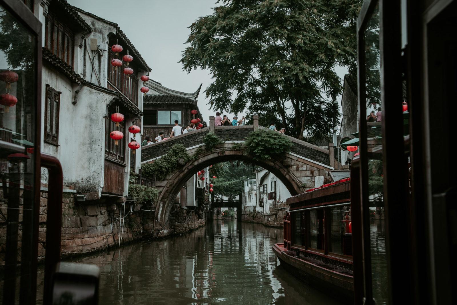 Brücke Shantang Street Suzhou Sehenswürdigkeiten China