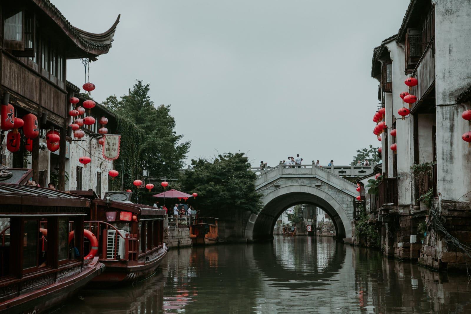 Suzhou Sehenswürdigkeiten Shantang Street Brücke