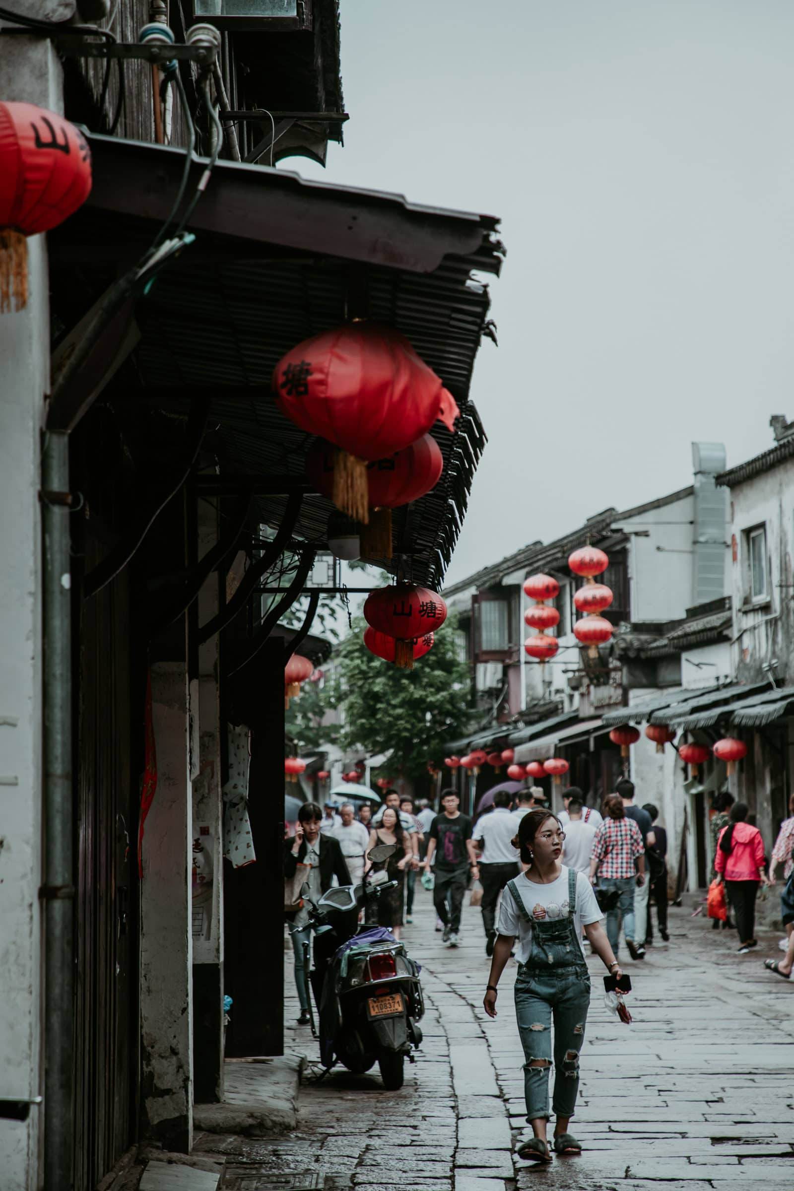 Suzhou China Sehenswürdigkeiten Shantang Street Shopping