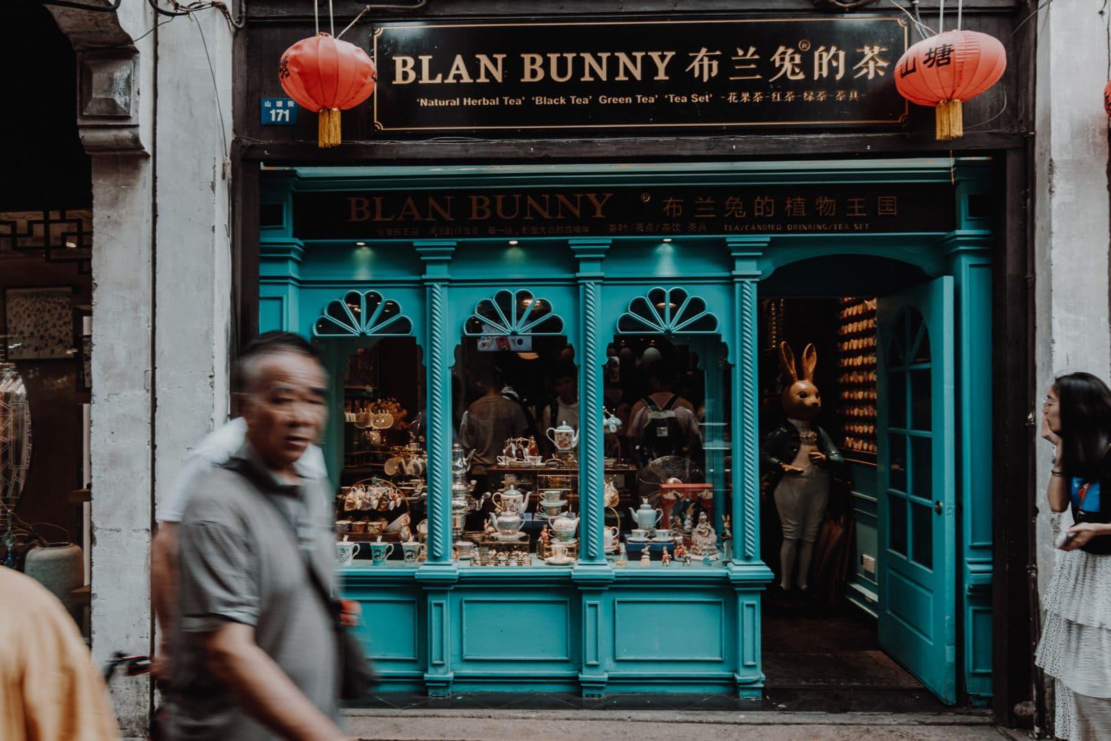 Suzhou Shopping Blan Bunny Teeladen Shantang Street