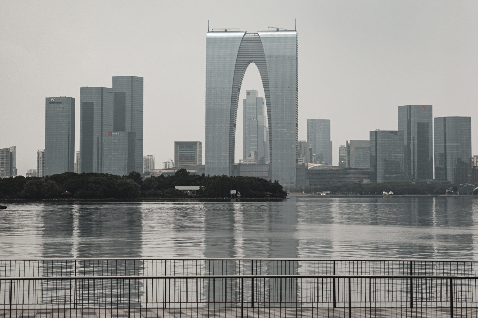 Suzhou Sehenswürdigkeiten die Hose Gate of the Orient Dongfang Zhimen