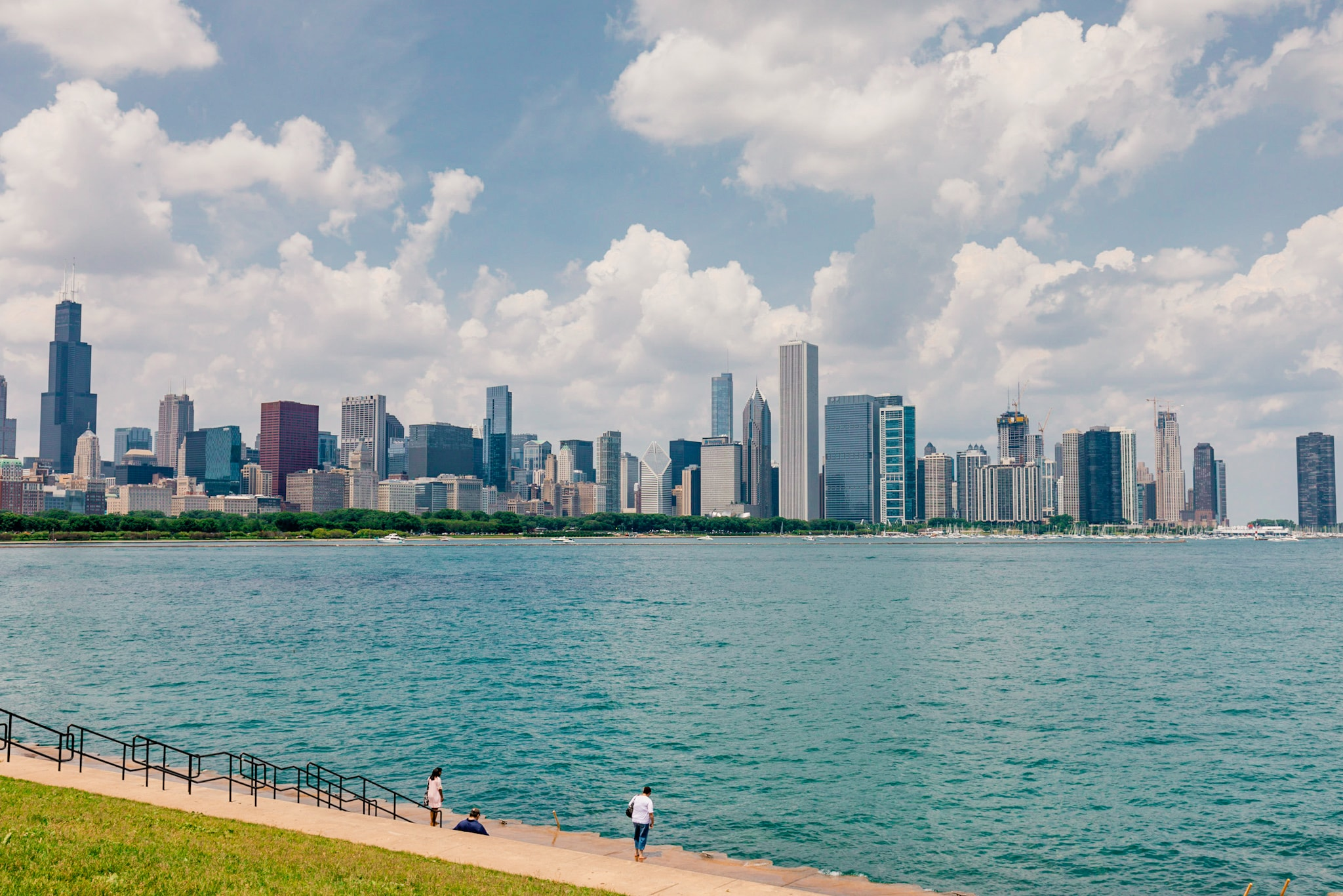 Chicago Skyline Lake Michigan