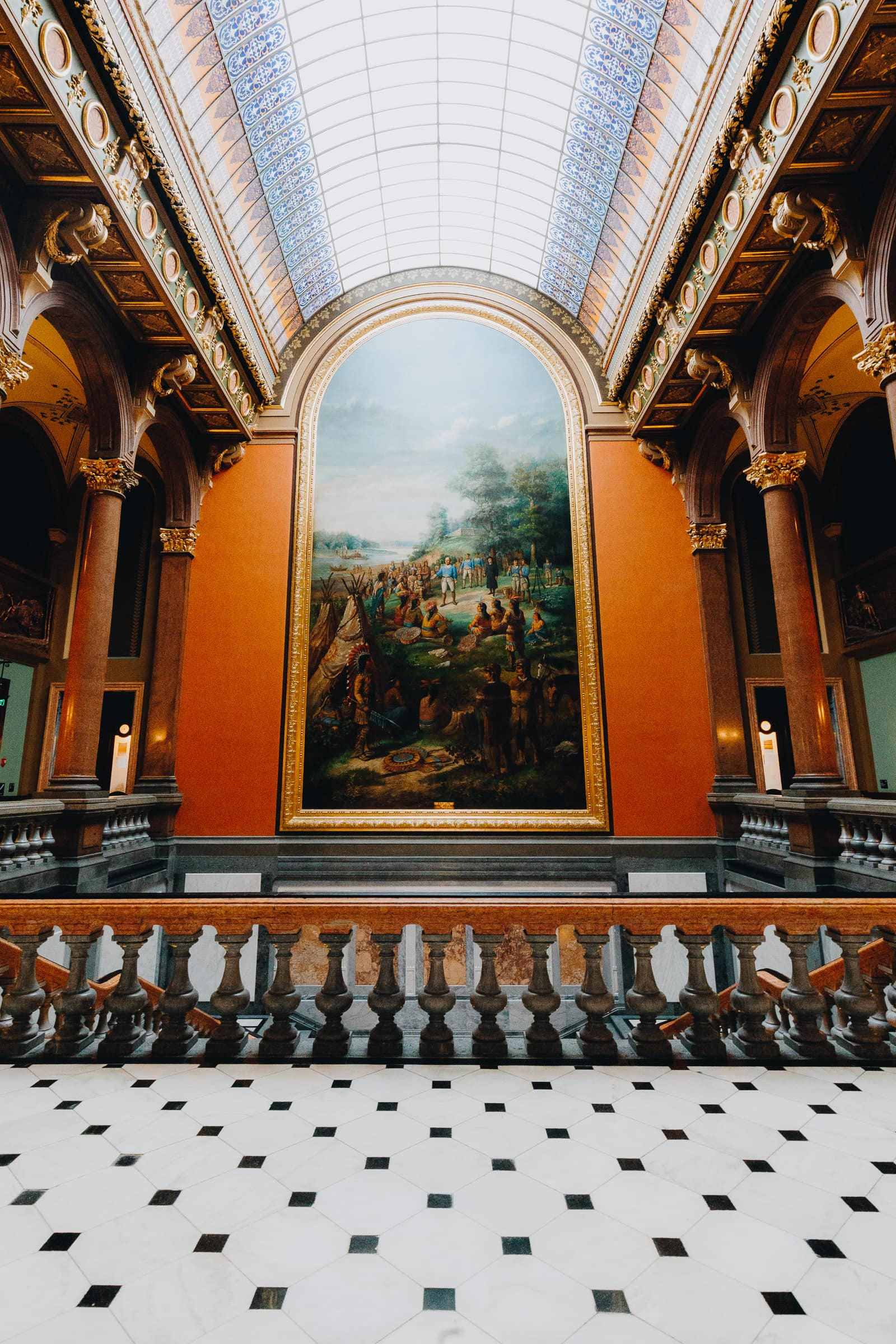 Springfield Illinois State Capitol Gemälde