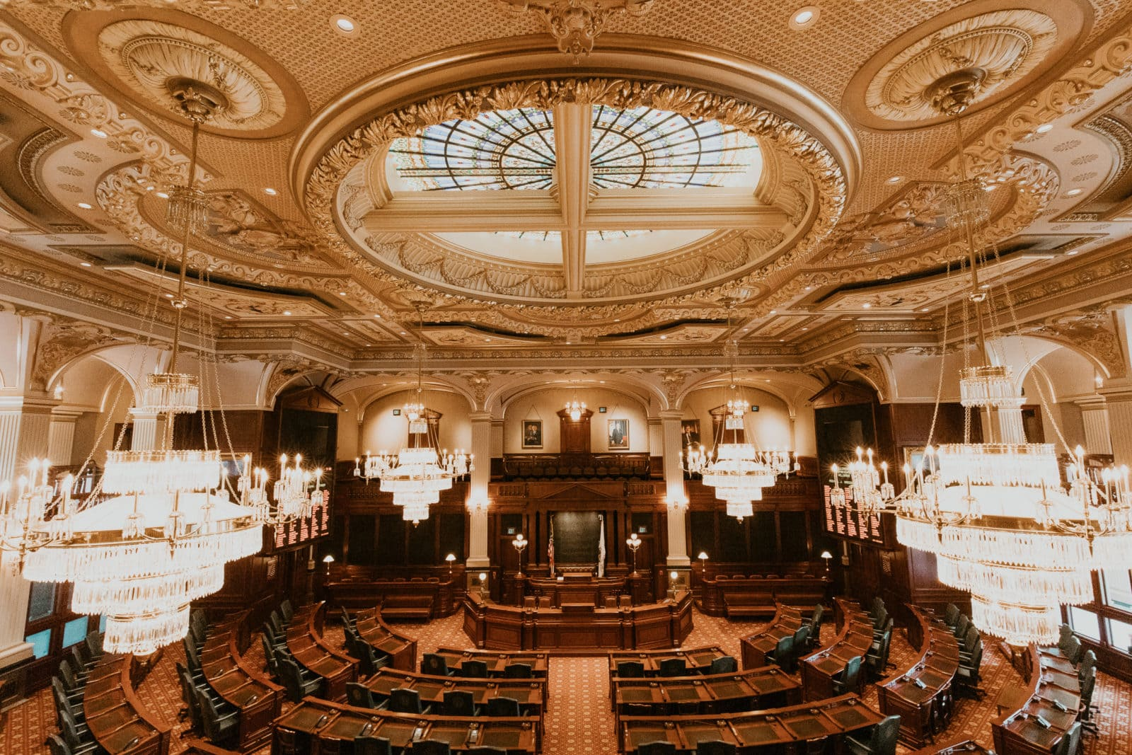 Springfield Illinois State Capitol Saal Parlament Abgeordnetenhaus