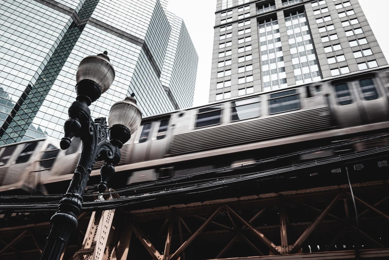 Chicago Sehenswürdigkeiten The Loop Hochbahn
