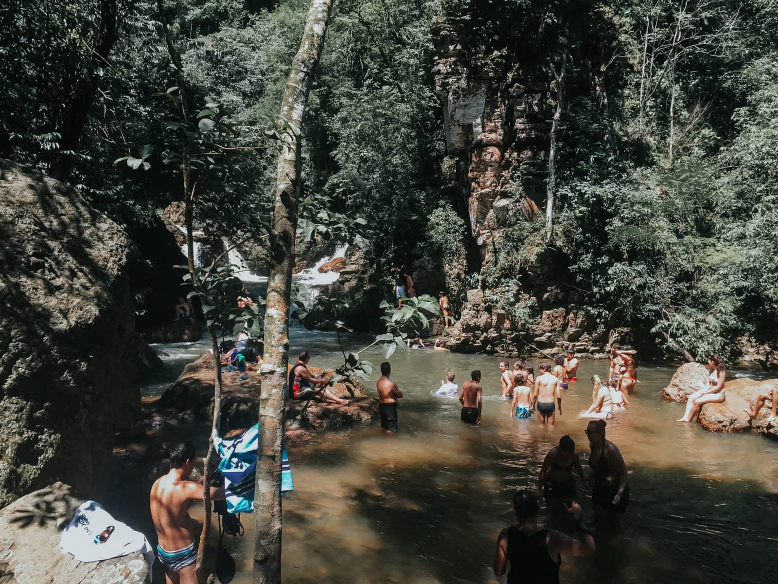 Salto do Itiquira Schwimmen Wasserfall Natur Pool